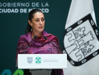Claudia Sheinbaum durante una conferencia de prensa en noviembre de 2019.