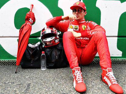 Charles Leclerc, de Ferrari, antes del Gran Premio de China.