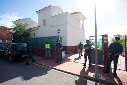 Operación contra el narcotráfico en Rincón de la Victoria (Málaga), el 12 de noviembre de 2020.