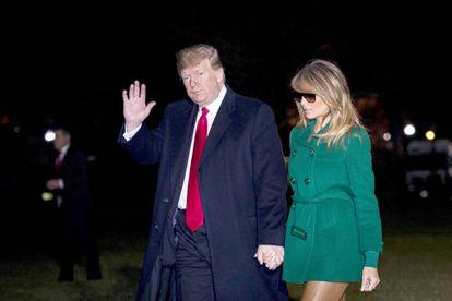 Donald y Melania Trump, a su llegada a la Casa Blanca, la pasada semana.