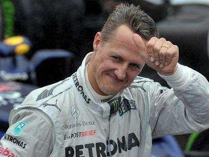 Schumacher en el circuito de Interlagos en noviembre de 2012.