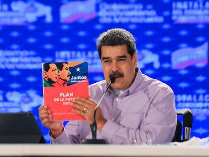 El presidente venezolano Nicolás Maduro en un acto de gobierno en Caracas (Venezuela).