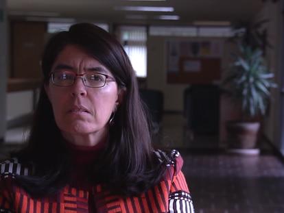 Atocha Aliseda Llera en el Instituto de Investigaciones Filosóficas de la UNAM, en septiembre de 2019.