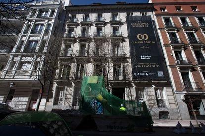 Edificio en Claudio Coello, 11, Madrid, que será rehabilitado por el grupo mexicano Abilia.