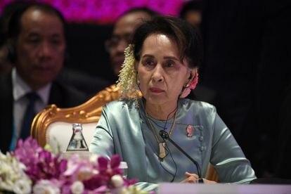 Aung San Suu Kyi en una cumbre de la ASEAN, en Bangkok, en 2019.