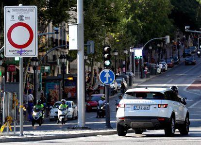 Una de las entradas a Madrid Central, que va a ser rebajada por el alcalde de Madrid.