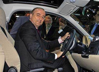 El ministro de Industria, Miguel Sebastián, en la inauguración del Salón del Automóvil de Madrid.