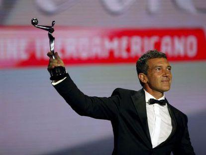 Antonio Banderas, premio de honor en la pasada edición de los Platino.