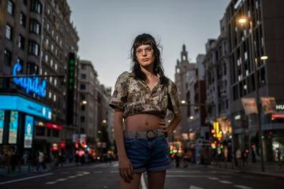 Zoe Fernández de la Mata, en el centro de Madrid.