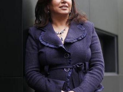 La empresaria tunecina Leila Beljiria, durante su estancia en Madrid.