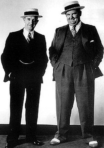 Stan Laurel (izquierda) y Oliver Hardy.