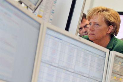 Merkel, en una visita el jueves a la Bolsa Europea de la Energía.