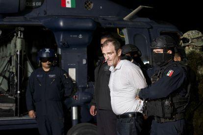 Héctor Palma Salazar alías 'El Güero Palma', durante su detención en 2016.