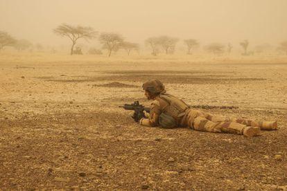 Un soldado francés de la operación Barkhane en Malí, en marzo de 2019.