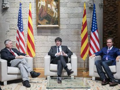 Dos congresistas norteamericanos serán recibidos hoy en La Moncloa y dos Ministerios tras citarse el fin de semana en Barcelona con autoridades catalanas