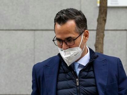 El fiscal Ignacio Stampa sale, el pasado jueves, de la Audiencia Nacional.