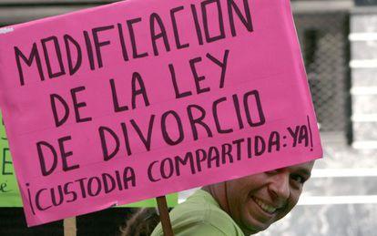 Manifestación por la custodia compartida en Tenerife.