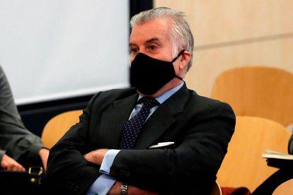 Luis Bárcenas, durante una de las sesiones del juicio por la caja b del PP que se está celebrando en la Audiencia Nacional.