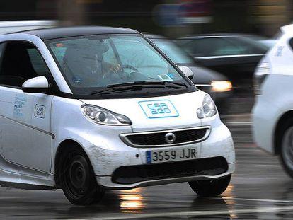 Un vehículo de 'carsharing' en Madrid.
