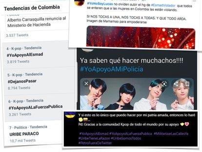 Miles de k-popers colombianas han saboteado las tendencias contra el paro en Twitter.