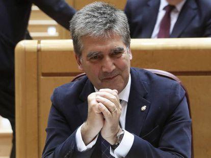 Ignacio Cosidó, portavoz del Partido Popular en el Senado. En vídeo, el portavoz asegura que seguirá al frente del grupo parlamentario.