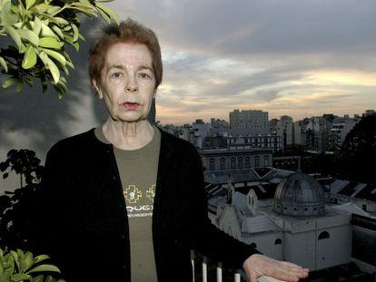 La escritora argentina Hebe Uhart, en Buenos Aires.