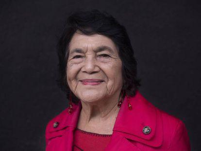 Dolores Huerta en la Ciudad de México en agosto de 2018.
