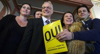 Thomas Minder, en la votación para limitar los bonus en Suiza.