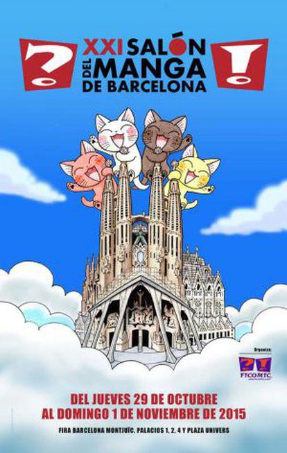 Cartel del XXI Salón del Manga.