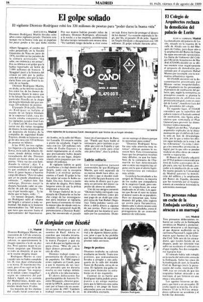 Página dedicada a analizar el robo en EL PAÍS.