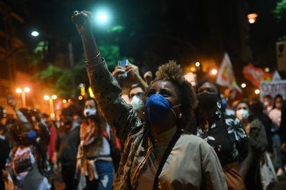 Una protesta contra el racismo en Río de Janeiro, el pasado 13 de mayo.