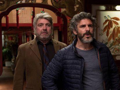 Pere Arquillué y Leonardo Sbaraglia en 'Félix'. / Tráiler de la serie.