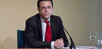 El consejero de Sanidad, Javier fernández-Lasquetty, tras el Consejo de gobienro.
