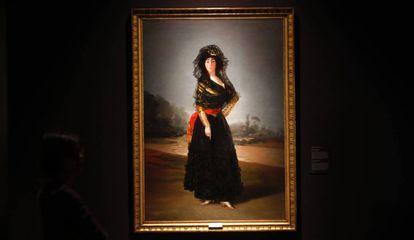 'Duquesa de Alba', de Goya, es una de las piezas más importantes de pintura de la muestra 'Tesoros'.