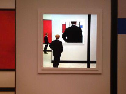 La reproducción ficticia de una obra cumbre de Mondrian de Gregory Scott que puede verse en el MNAC.