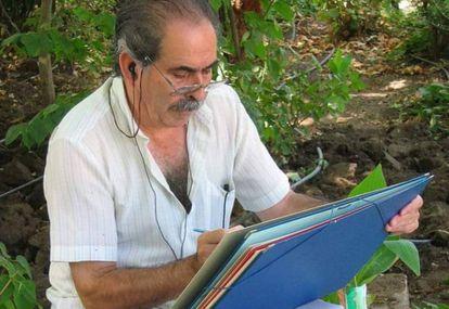 Cristóbal Aguilar Barea, artista de 'Estampa Popular'.