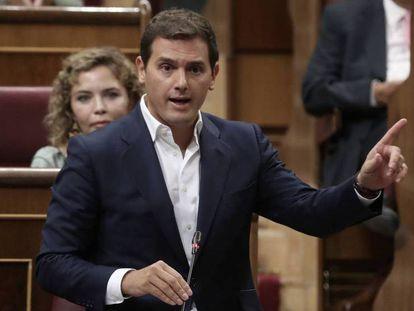 Albert Rivera, en la sesión de control al Gobierno.