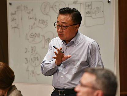 Dong Jing (DJ) Koh, presidente y consejero delegado de Samsung Electronics, responsable de la parte de comunicaciones móviles, el pasado miércoles, en Seúl.