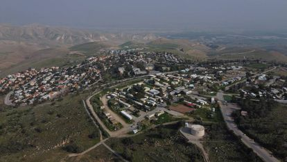 Asentamiento israelí de Maale Efraim, en Cisjordania.