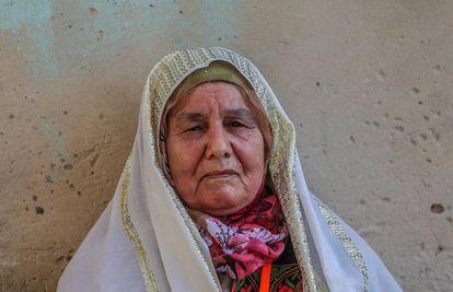 Una mujer palestina en el campo de refugiados Khan Younis de Gaza