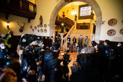 Acto de entrega de las llaves del Pazo de Meirás al Estado el pasado 10 de diciembre.