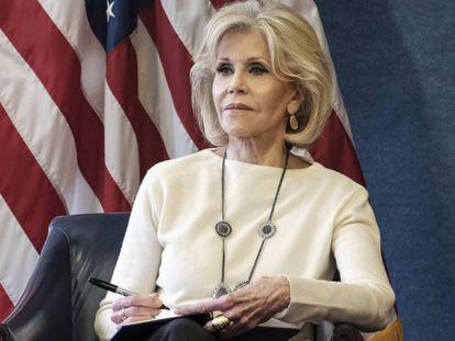 Jane Fonda, en un evento celebrado en el National Press Club, de Washington el 17 de diciembre.