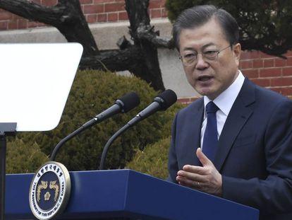 El presidente surcoreano Moon Jae-in.
