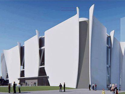 Imagen del proyecto de Hermitage Para Barcelona creado por Toyo Ito.