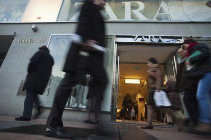 Tienda de Zara en el centro de Madrid.