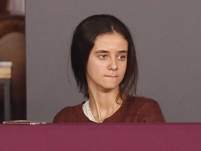 Victoria Federica de Marichalar durante la CSI3: Madrid Horse Week 2017 el pasado noviembre en Madrid.
