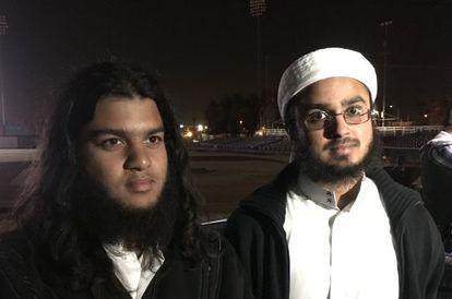 Raheman y Nizam Ali, el jueves por la noche en la vigilia.
