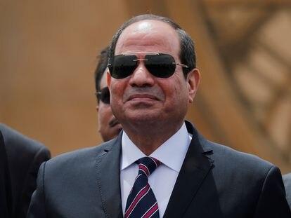 Al Sisi, en un acto público en el canal de Suez en 2019.
