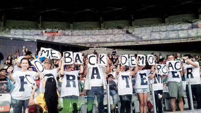 Protesta contra Temer en Minerâo este sábado