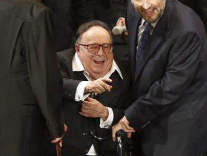 Gómez Bolaños, de 84 años, en su reciente homenaje en México.